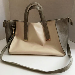 Ivanka Trump Faux Leather Tan Purse With Long And